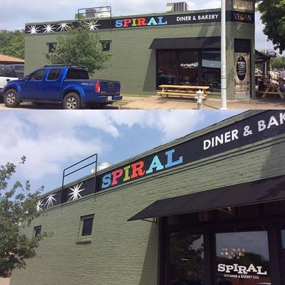 Spiral Diner Mural Fort Worth