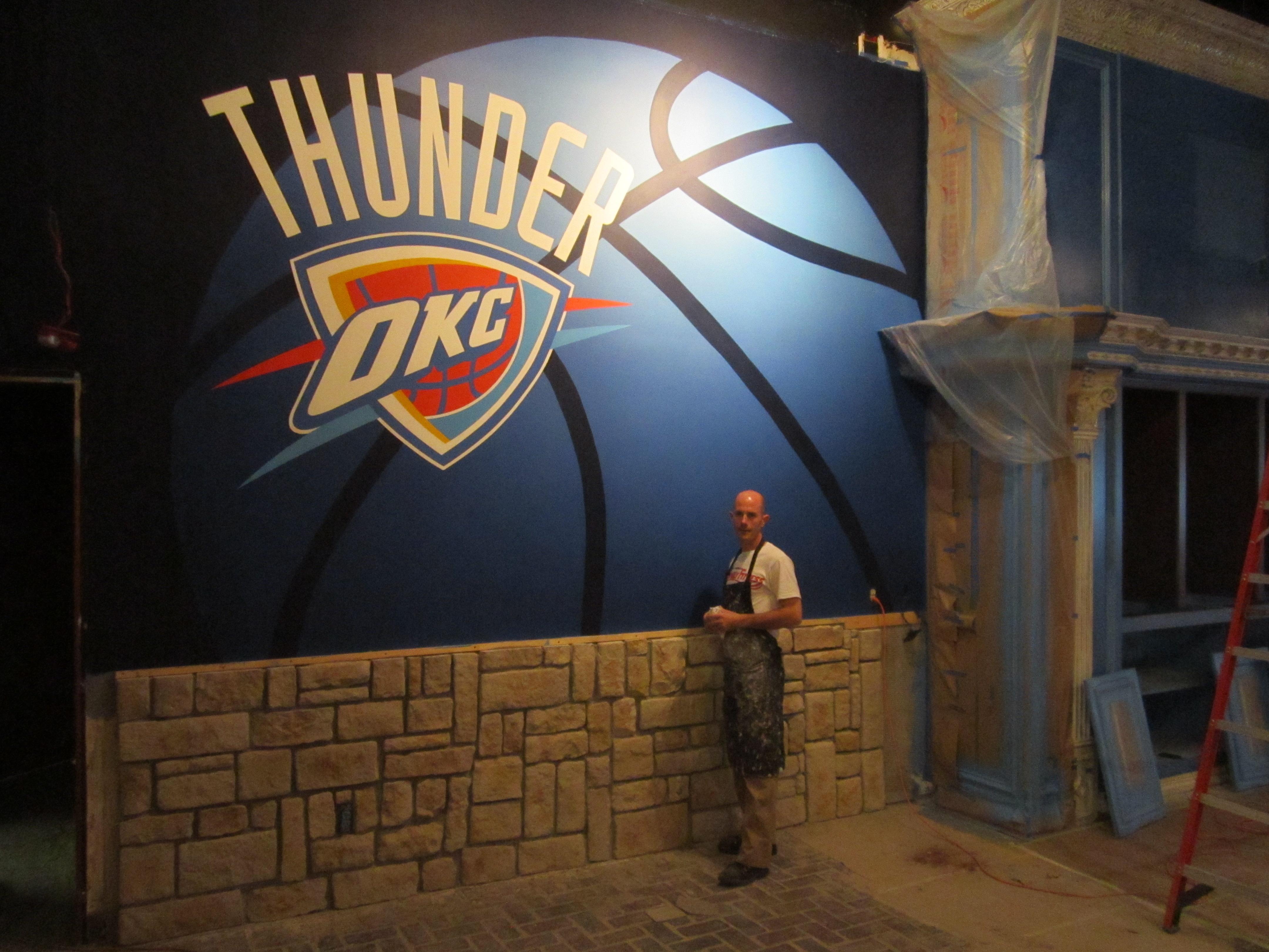 Oklahoma Thunder basketball Mural.JPG