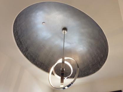 Faux metal ceiling mural