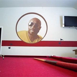 Issac Hays pool room mural