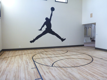 interior basketball mural