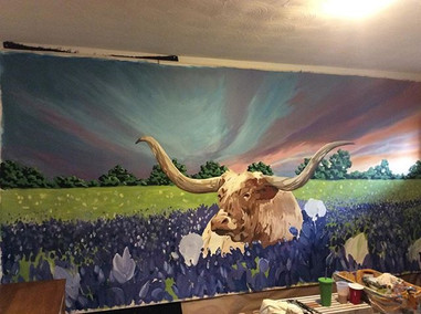Mural on canvas for CattlAck BBQ