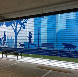 dog park mural
