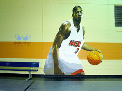 Dwayne Wade Mural in Dallas