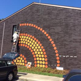 LOOP mural - in progress shot