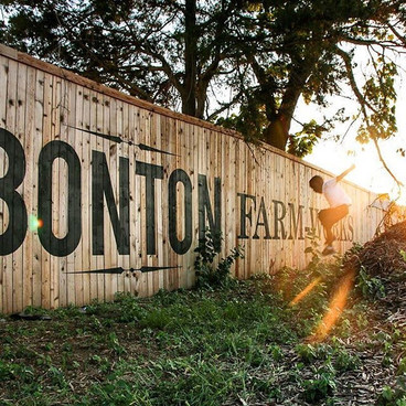 Bonton Farms painted signs