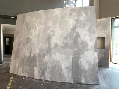 faux concrete wall