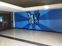 Team mascot mural Dallas