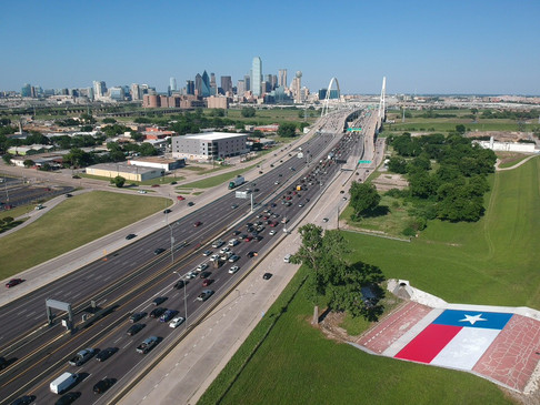 large texas flag mural in Dallas