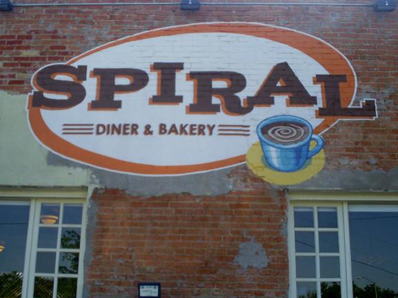spiral diner mural