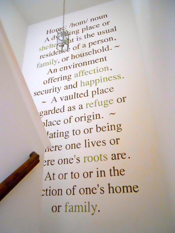 home definition mural