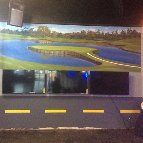 golf room mural