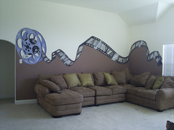 Media room theater mural