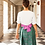 "Thumbnail: ""Shangai"" silk brocade and cotton dress"