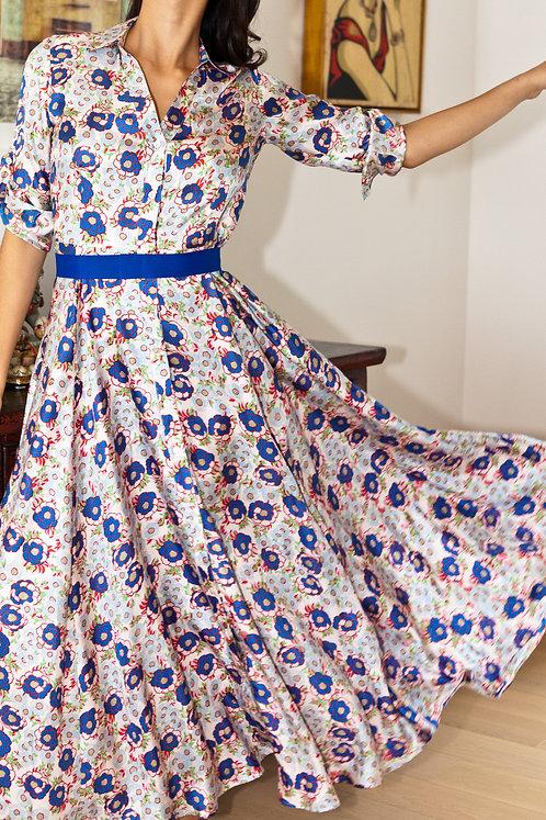 """Siem reap"" silk chemisier dress"