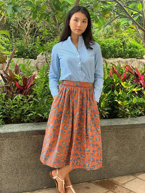 """Surin"" cotton shirt, ""Rawa"" linen skirt"