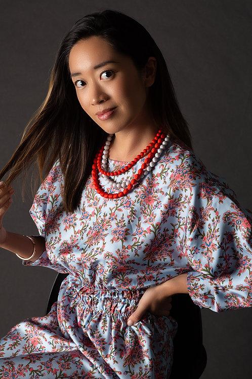 """""""Gili"""" silk printed dress"""