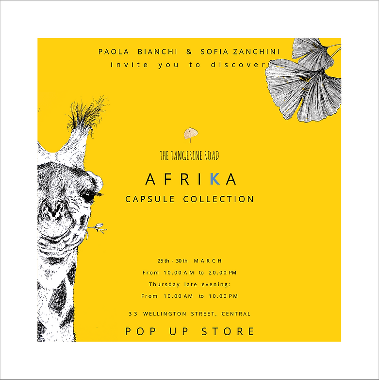 Afrika invitation Cri Cri Studio