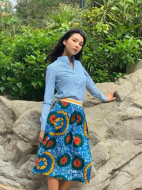 """Surin"" cotton shirt, ""Batu Batu"" cotton skirt"