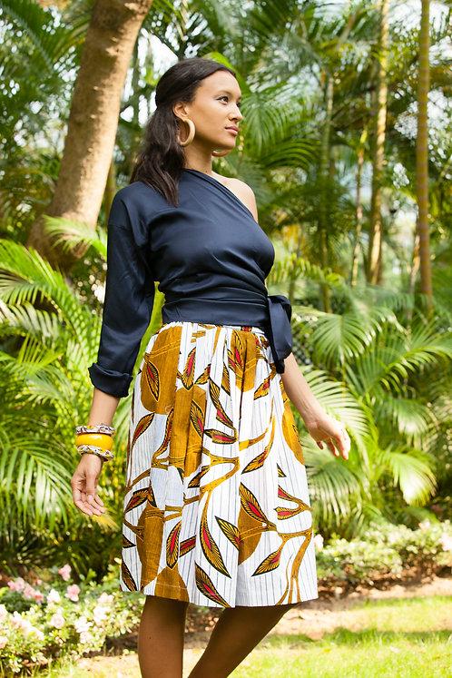 """""""Bangkok"""" silk top, """"Zanzibar"""" cotton skirt with pockets"""