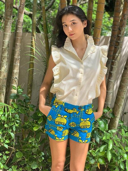 """""""Phuket"""" cotton shirt, """"Afrika"""" printed short in cotton"""