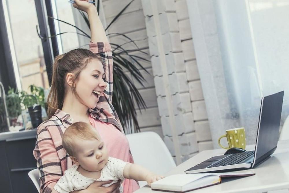 Как молодой маме заработать в интернете