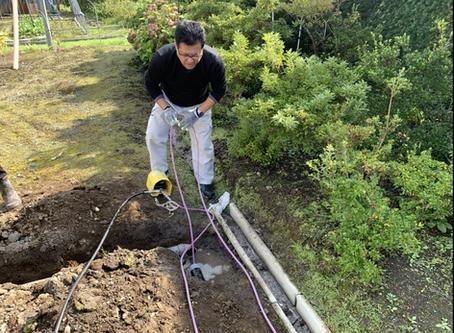 岩手県軽米町で排水管の高圧洗浄を行いました