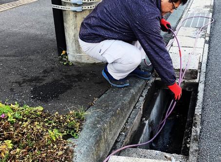 二戸市で排水管の高圧洗浄を行いました