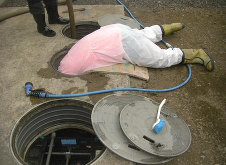 青森県深浦町で浄化槽修理を行いました