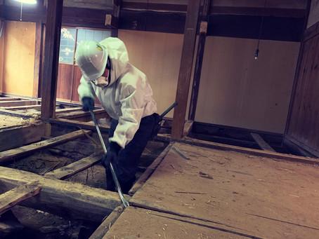 青森県八戸市南郷区でリフォーム住宅の床解体を行いました