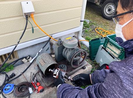 浄化槽ブロワのモーターベアリング交換修理を行いました