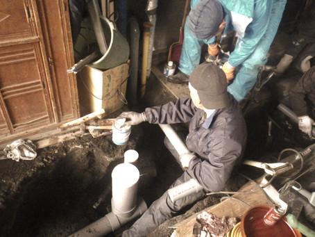 二戸市浄法寺町で排水工事を行いました