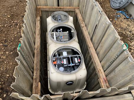 岩手県二戸市で浄化槽工事を行いました