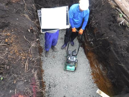 青森県三戸町で浄化槽工事を行いました