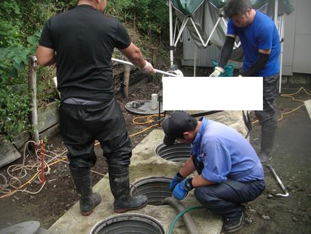 青森県田子町で浄化槽修理を行いました