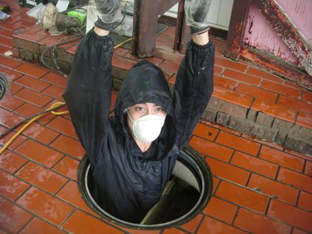青森県階上町で浄化槽修理を行いました