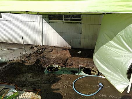 青森県弘前市で浄化槽修理を行いました