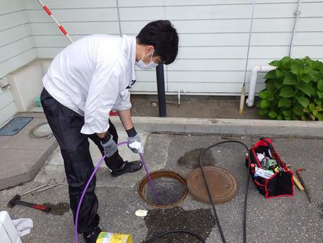 岩手県二戸市で排水詰まり高圧洗浄を行いました
