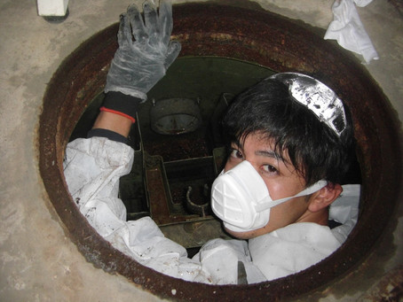 二戸市で浄化槽の漏水修理を行いました