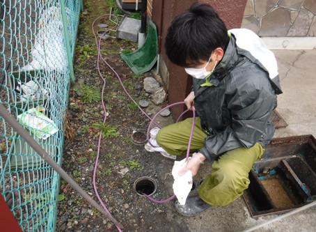二戸市で排水管の高圧洗浄・グリストラップの蓋交換を行いました