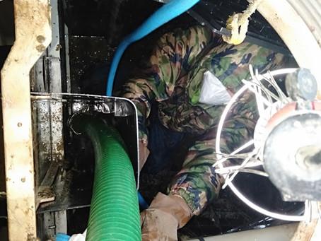 岩手県奥州市で浄化槽修理を行いました