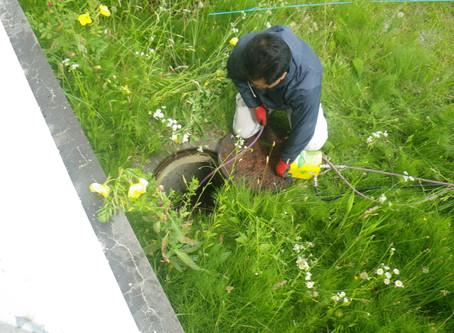 青森県三沢市で排水詰りの高圧洗浄を行いました