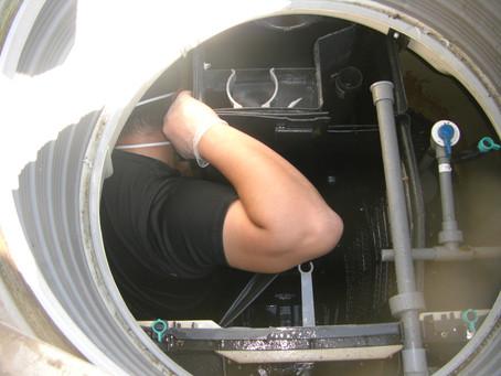 岩手県陸前高田市で浄化槽修理を行いました
