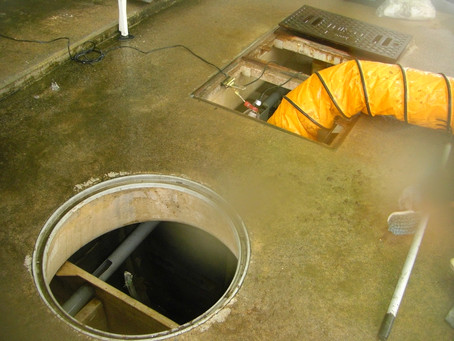 青森県むつ市で浄化槽修理を行いました