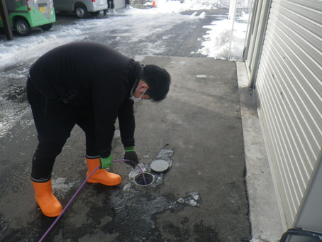 岩手県二戸市でトイレ詰りの高圧洗浄を行いました