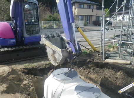 岩手県二戸市で浄化槽工事・排水管工事を行いました