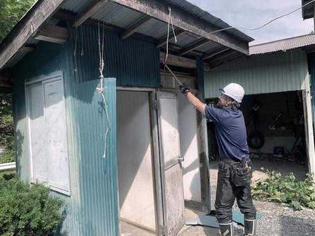 八戸市南郷区でトイレの解体を行いました