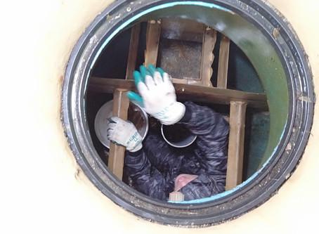 岩手県九戸村で浄化槽修理を行いました
