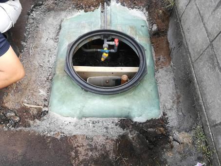 青森県青森市で浄化槽のFRP修理を行いました