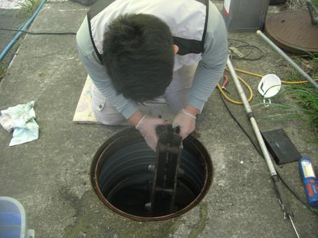 青森県三戸町で浄化槽修理を行いました